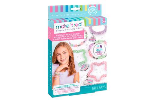 """Make it Real: Набор для создания шарм-браслетов  """"Блестящие спиральки"""""""