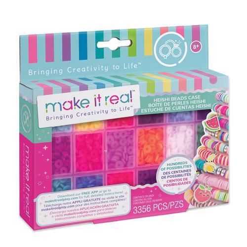 """Make it Real: Большой набор для создания браслетов с бусинами Хейши и футляром для хранения """"Сочные цвета"""""""