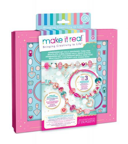 "Make it Real: Набор для создания браслетов "" Розовое сияние"""