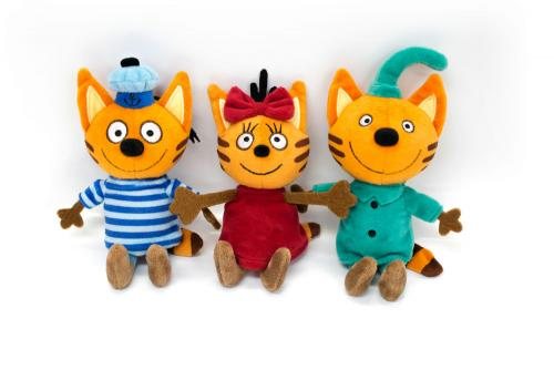 Три кота: мягкая игрушка Коржик