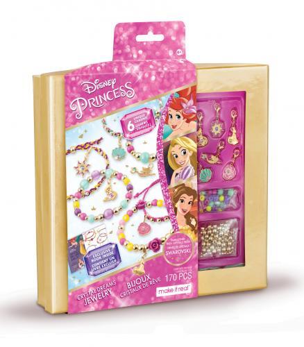 """Make it Real: набор для создания шарм-браслетов с кристаллами Swarovski """"Принцессы Диснея"""""""