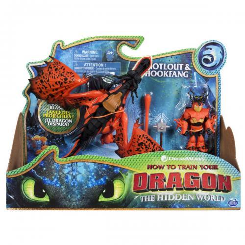 Как приручить дракона 3: набор из дракона Кривоклыка и всадника Сморкалы