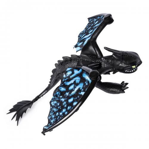 Как приручить дракона 3: фигурка де-люкс дракона Беззубика со световыми и звуковыми эффектами (Уценка)