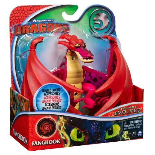 Как приручить дракона 3: коллекционная фигурка дракона Кривоклыка с механической функцией и аксессуарами