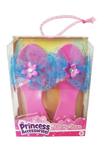 Розовые туфельки с голубым бантом для маленькой принцессы (Уценка)