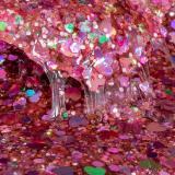 ORB Slimy Xtreme Glitterz: глиттерный слайм розовый (90 г)