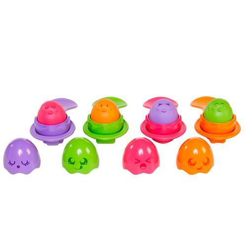 Развивающая игрушка «Яркие яйца с ложечками»