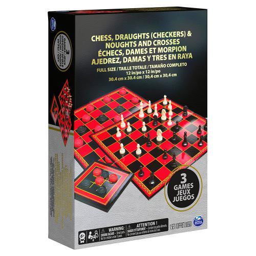 """Набор из трех настольных игр  """"Шахматы, шашки и крестики-нолики"""""""