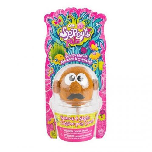 ORB Sprouti Palz: игрушка-травянчик оранжевый (Уценка)